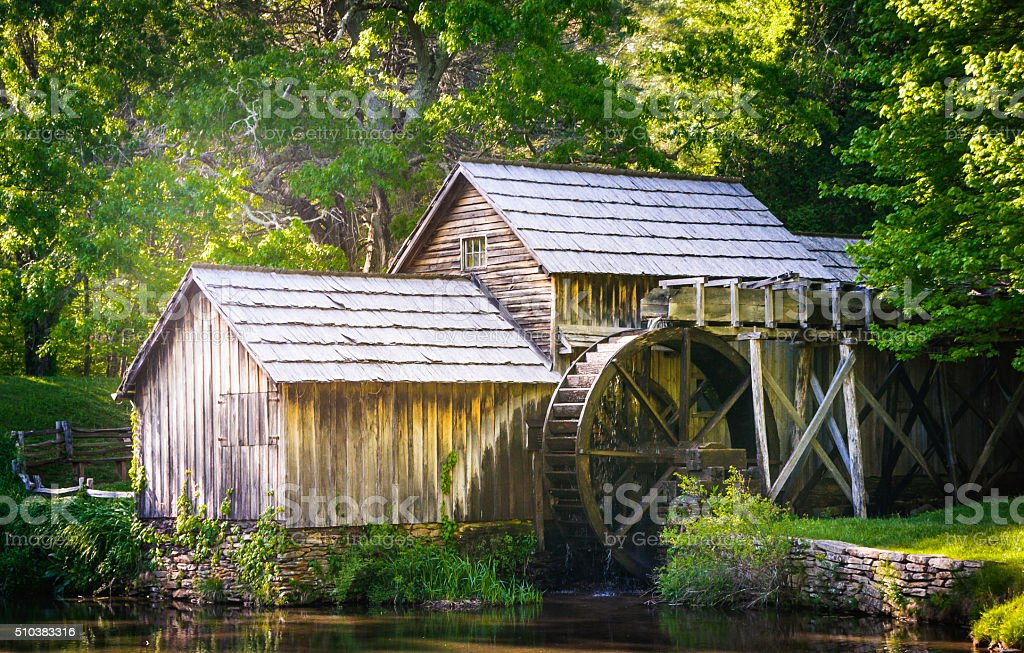 Old Mabry Mill stock photo