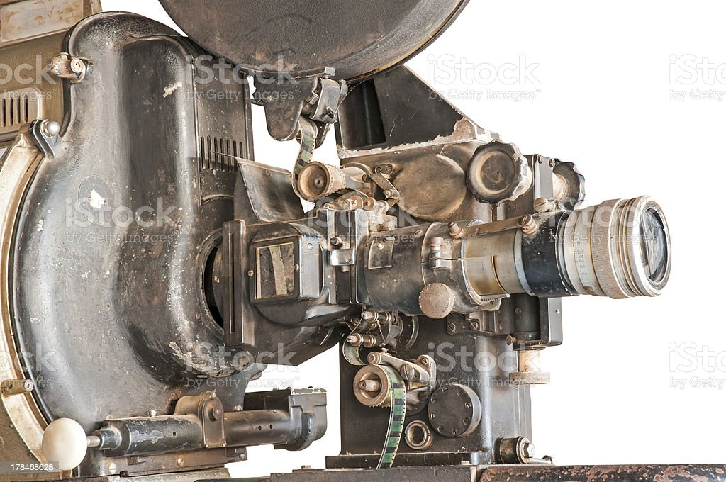 old machine film projector stock photo
