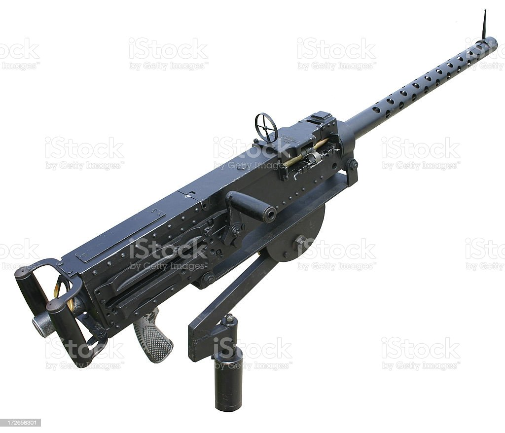 Old Machine Gun (clipping path) stock photo