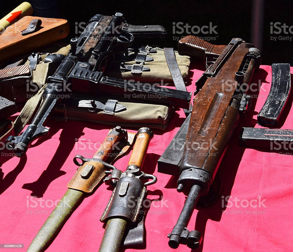 Old machine guns royalty-free stock photo