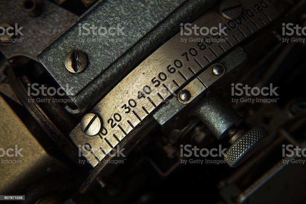 Old Machine Part stock photo