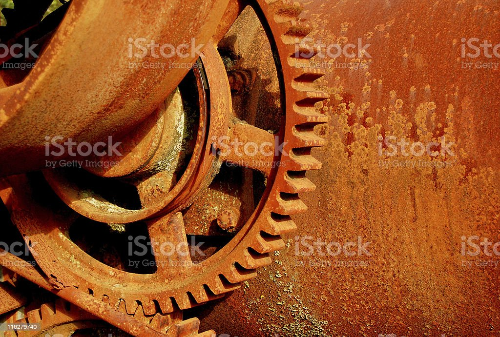 Old Machinery Portfolio - Antique Eqipment Gearing royalty-free stock photo