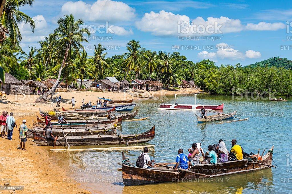 Old Madagascar Fishing Village stock photo