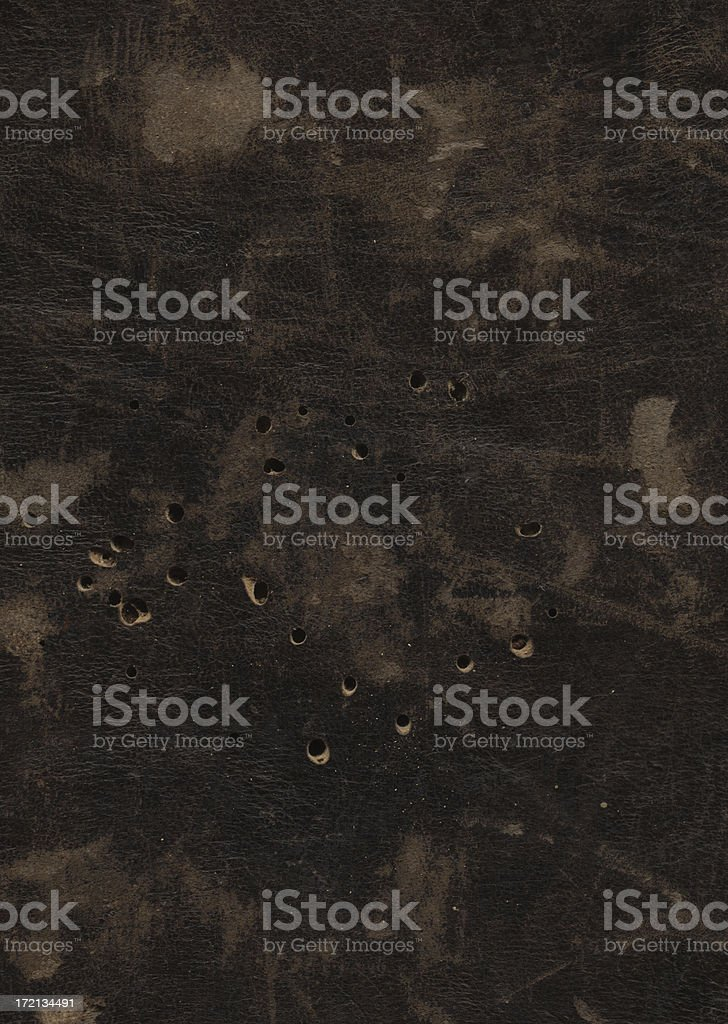 old made of leather cover from the sixteen century book royalty-free stock photo