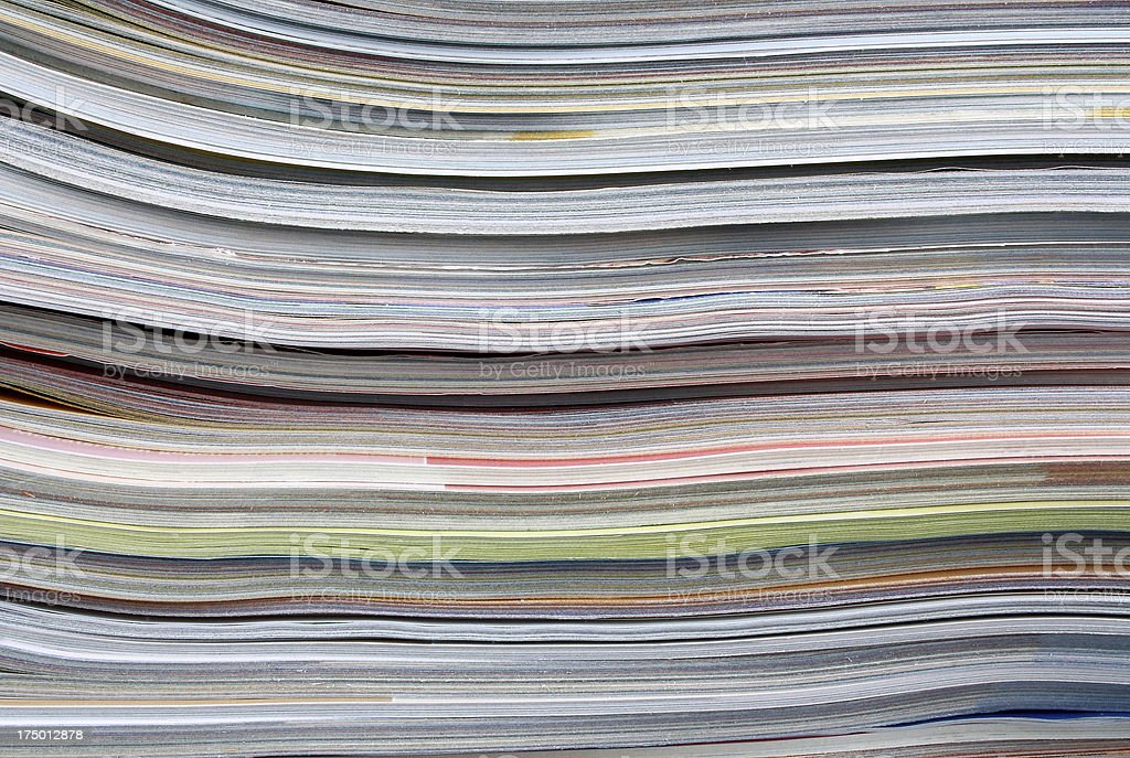 Old magazines as background royalty-free stock photo