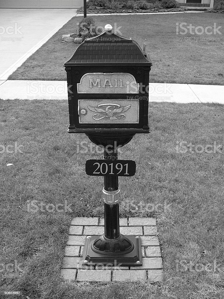 old mail box stock photo