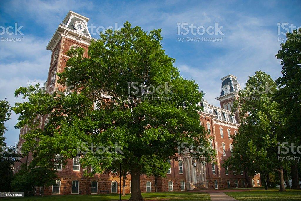 Old Main on the University of Arkansas Campus stock photo