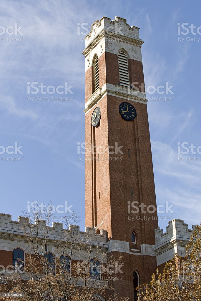 Old Main tower stock photo