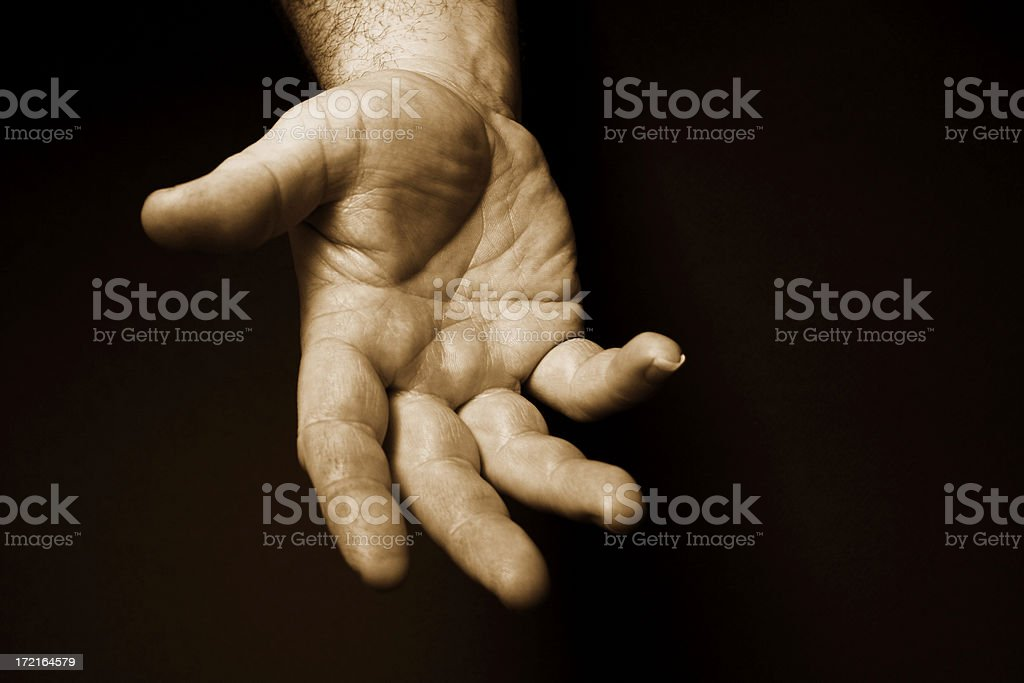Old male hand royalty-free stock photo