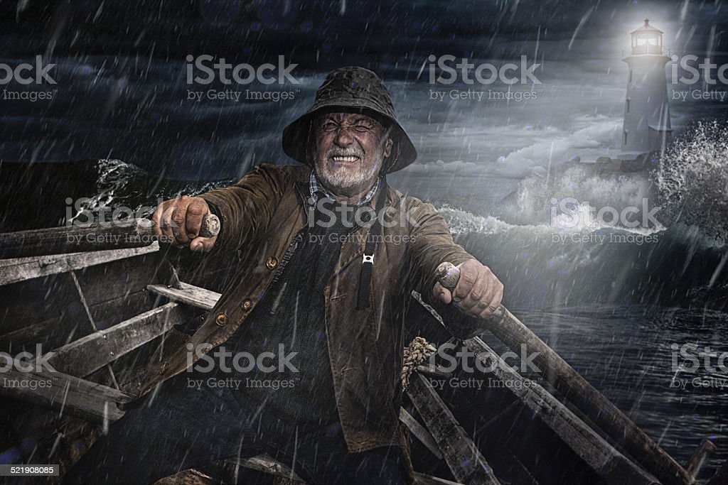 Old Man and the Sea stock photo