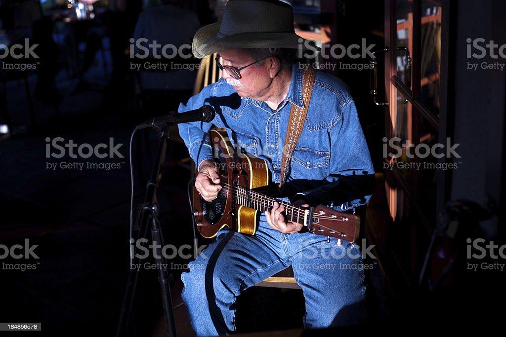 Old Man Blues stock photo