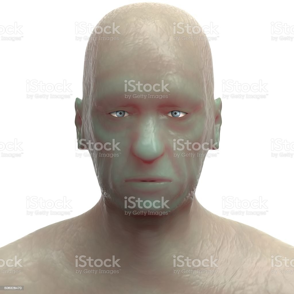 Old man Face stock photo
