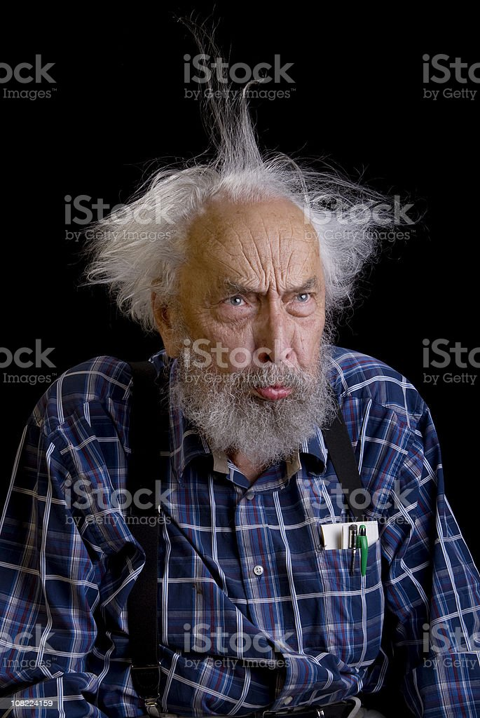 Old Man Frowning royalty-free stock photo