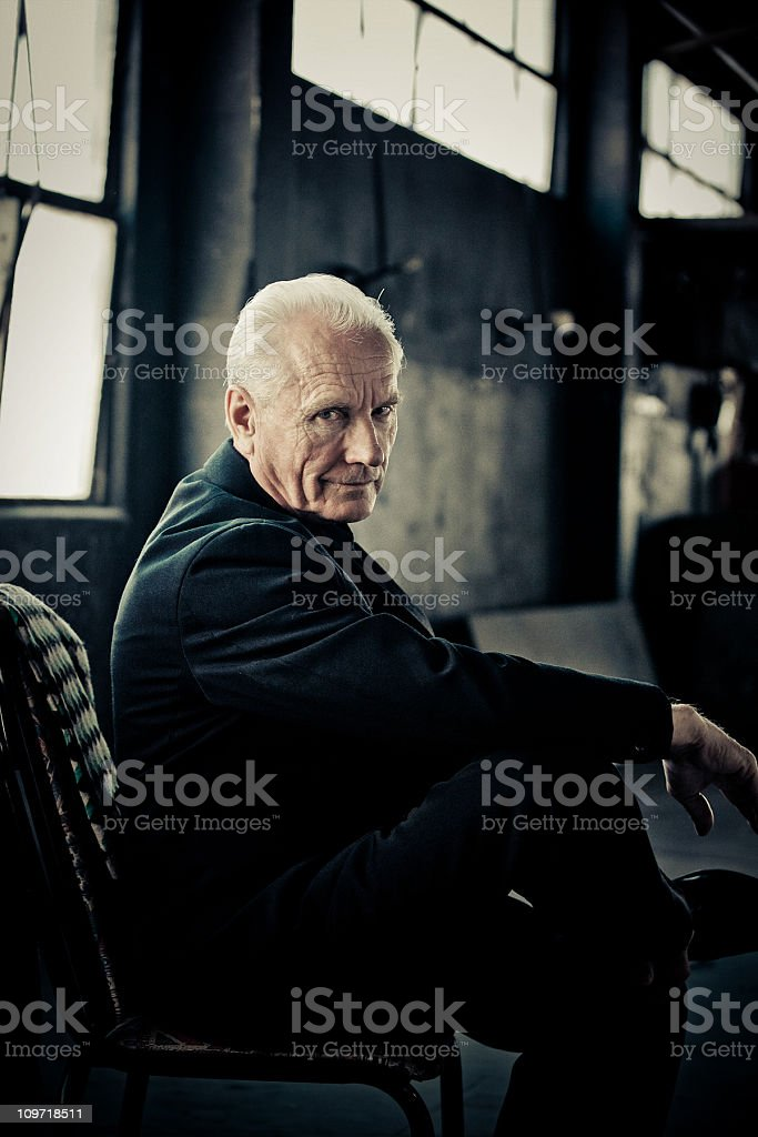 old man full of confidence stock photo