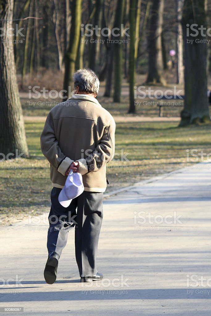 Old man in park royalty-free stock photo