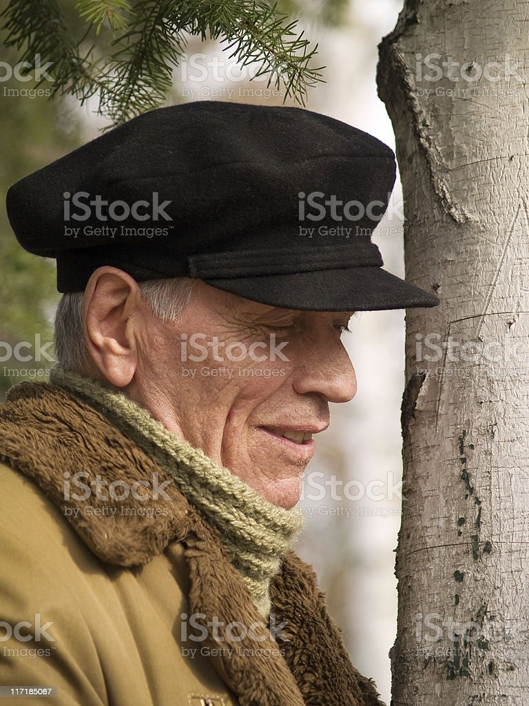 Old man in the park royalty-free stock photo