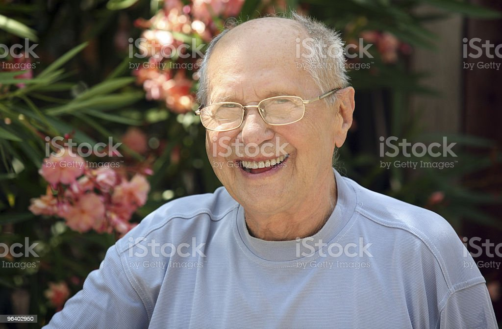 Old man laughing royalty-free stock photo