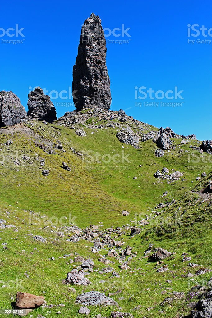 Old Man of Storr Lies Ahead stock photo