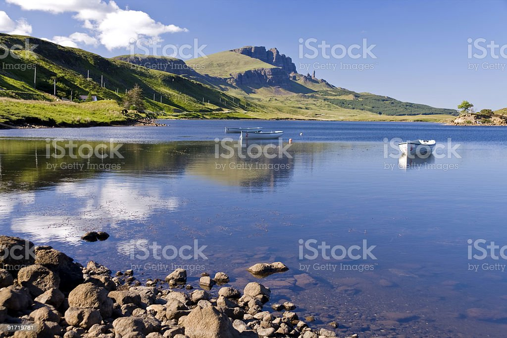 Old Man of Storr on Skye in Scotland royalty-free stock photo