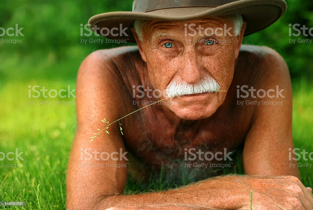 old man on holidays royalty-free stock photo