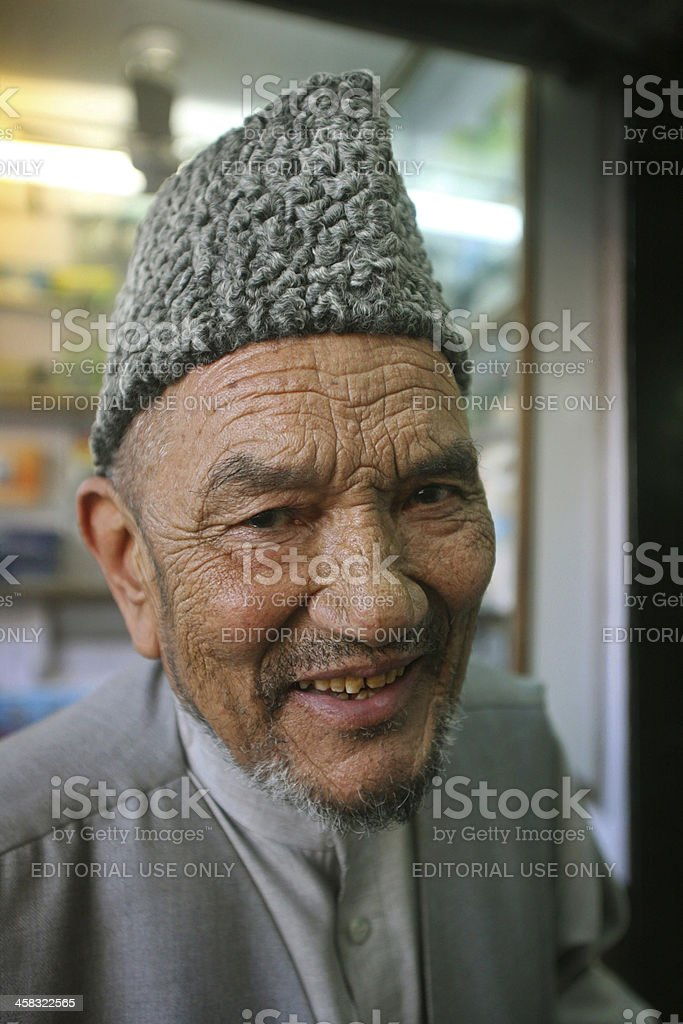 Old man on the street royalty-free stock photo