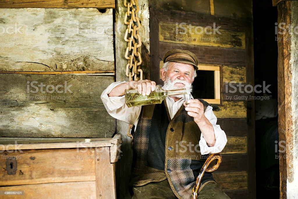 Old man stock photo