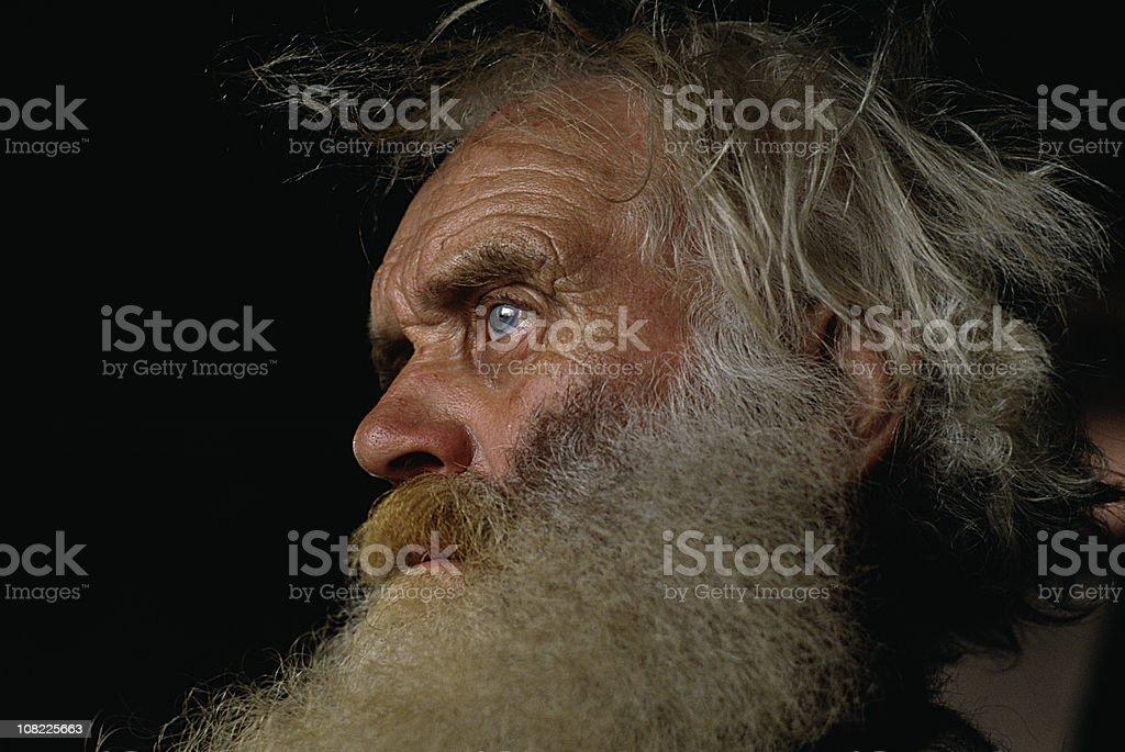 Old man portrait stock photo