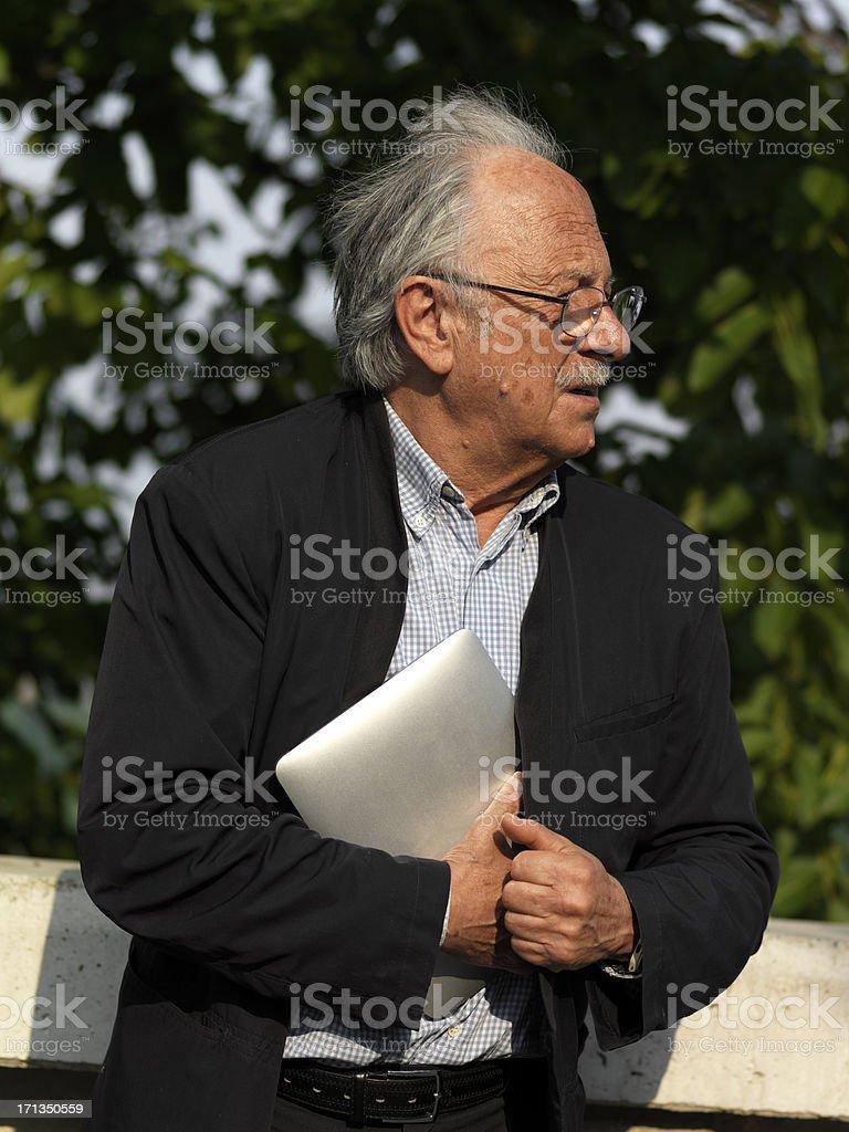 Old man stealing royalty-free stock photo