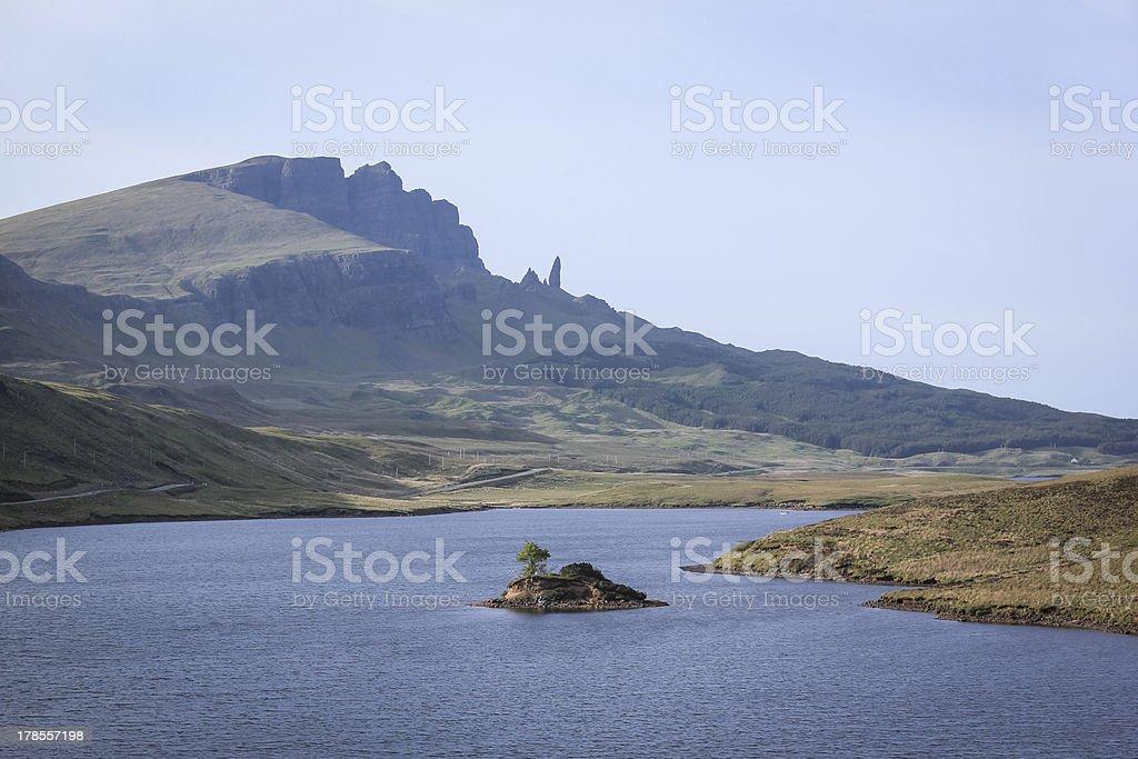 old man storr isle of skye highlands scotland royalty-free stock photo