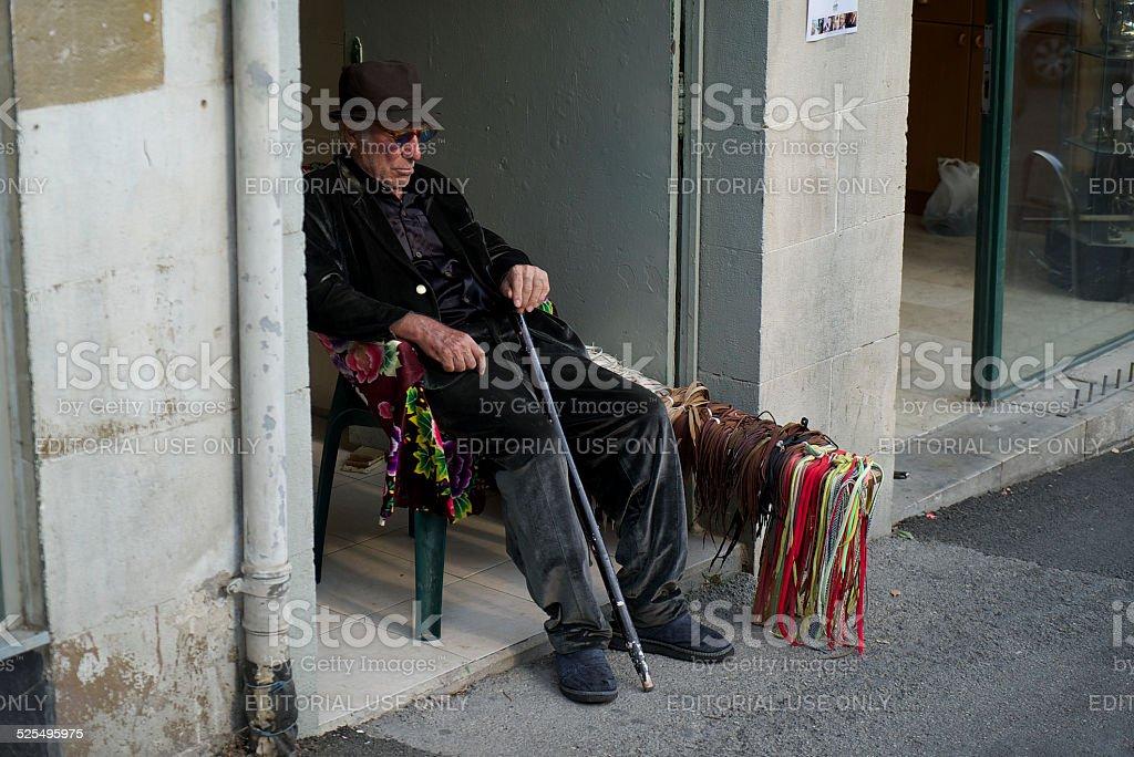 Old Man Vendor stock photo