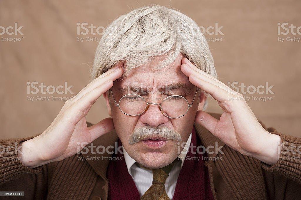 Old Man With Headache stock photo