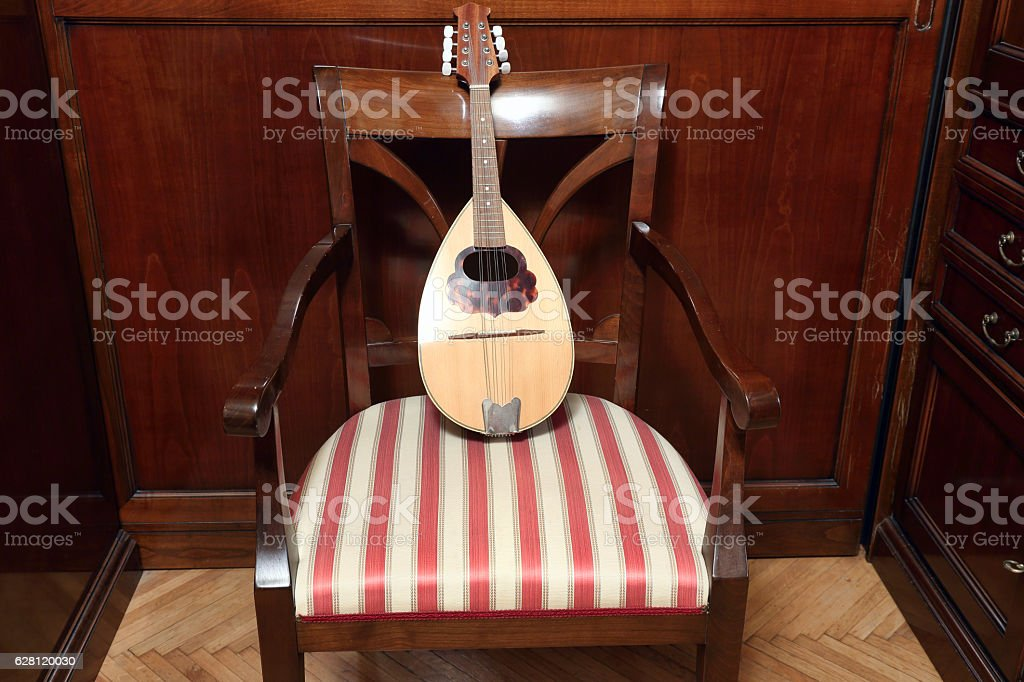 Old mandolin stock photo