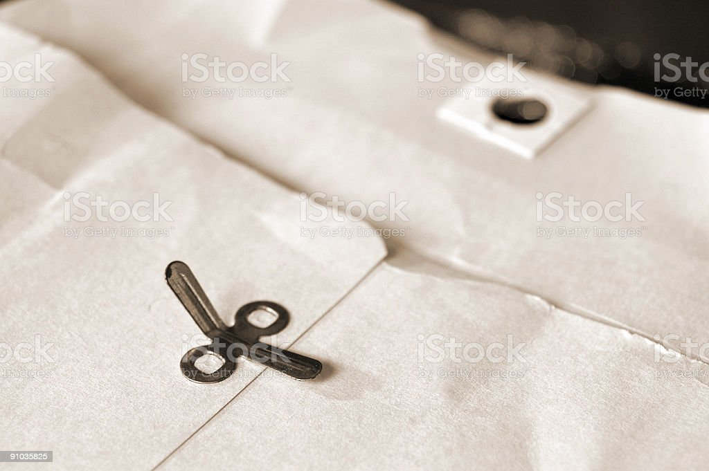 Old manilla envelope stock photo