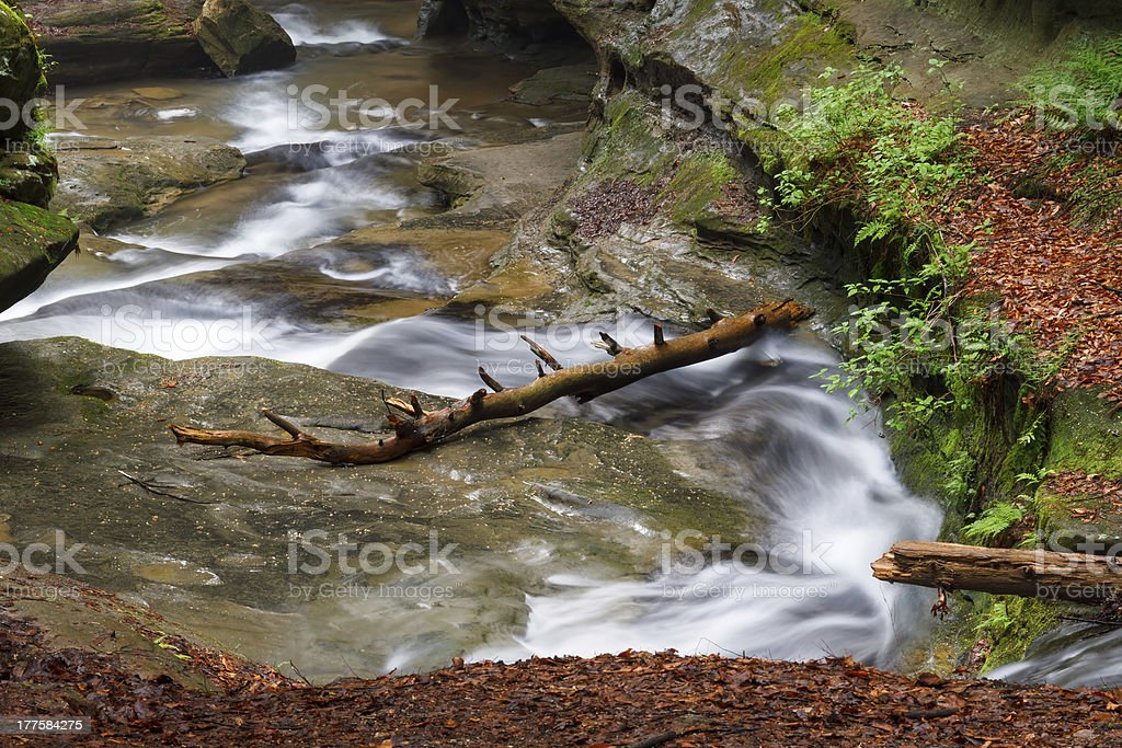 Old Man's Cave Whitewater royalty-free stock photo