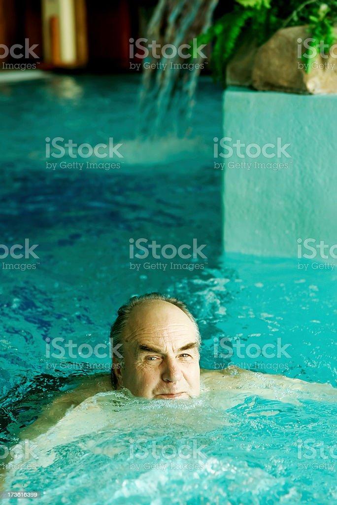 Old man's holidays royalty-free stock photo