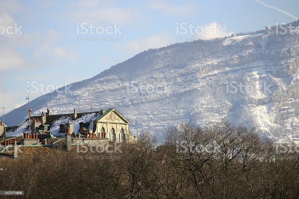Old Mansion, Geneva Switzerland royalty-free stock photo