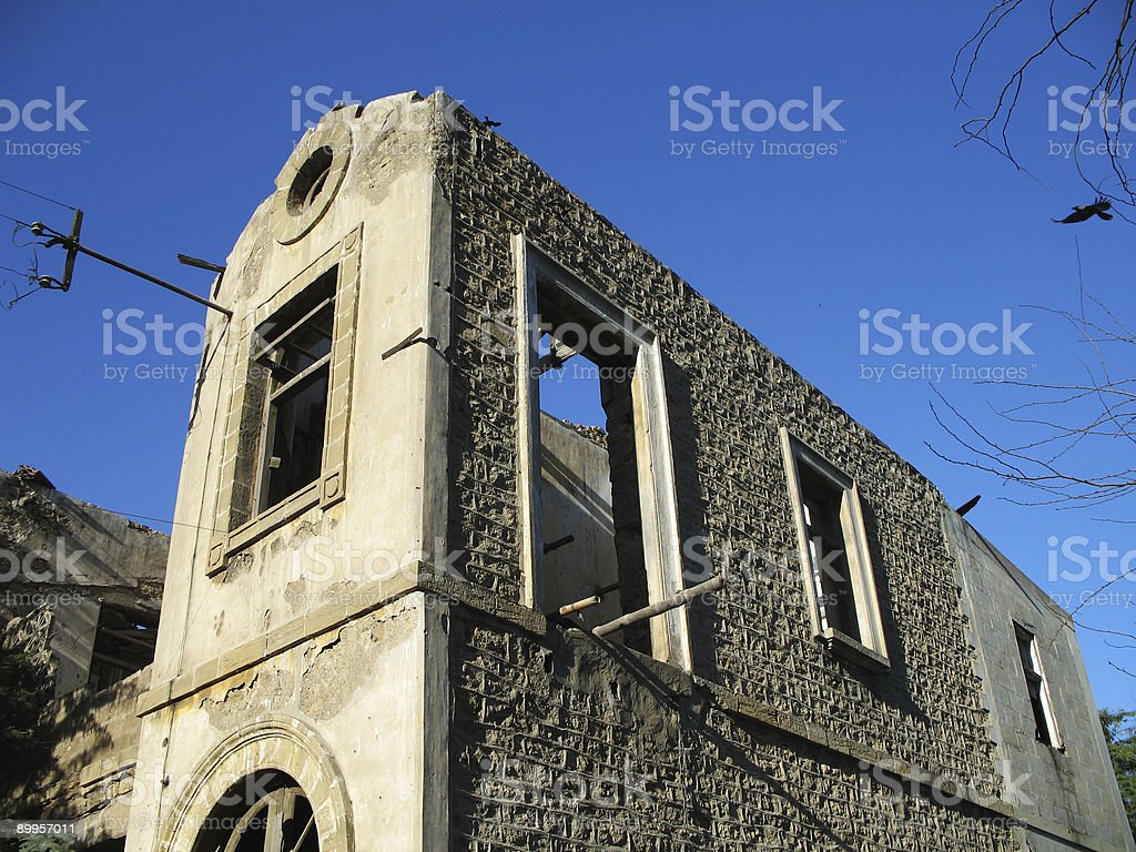 Old Mansion in ruins royalty-free stock photo