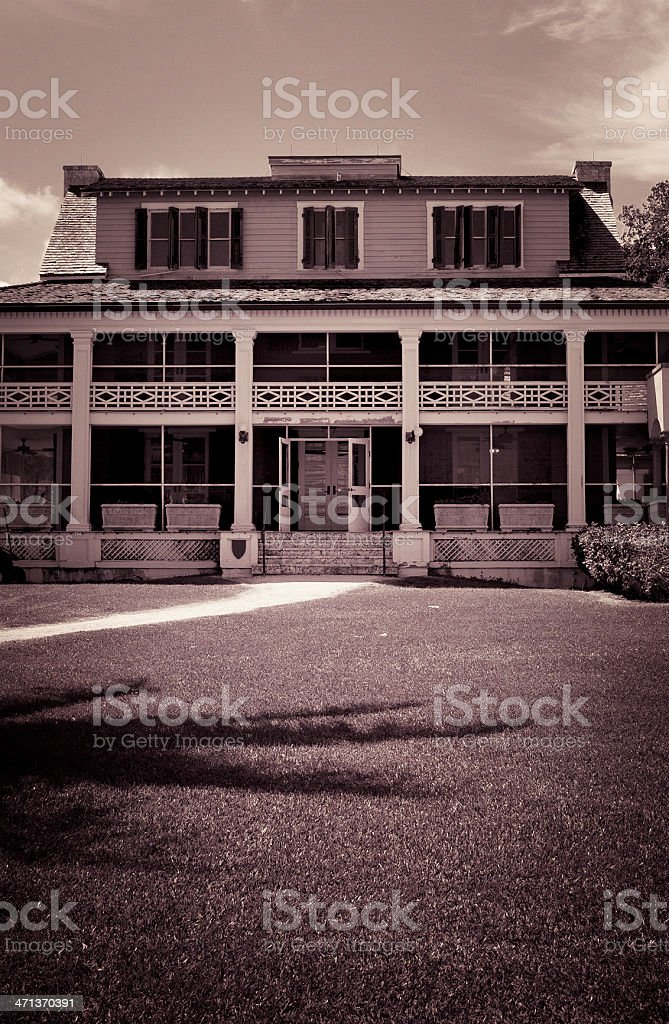 Old mansion stock photo