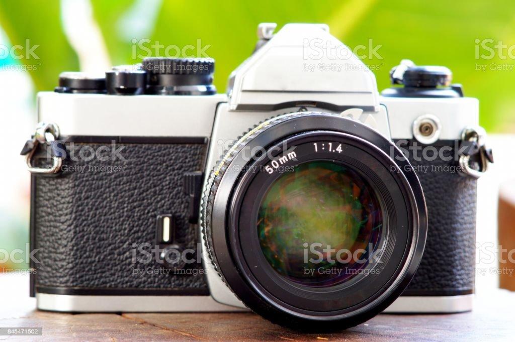 Old manual cameras stock photo