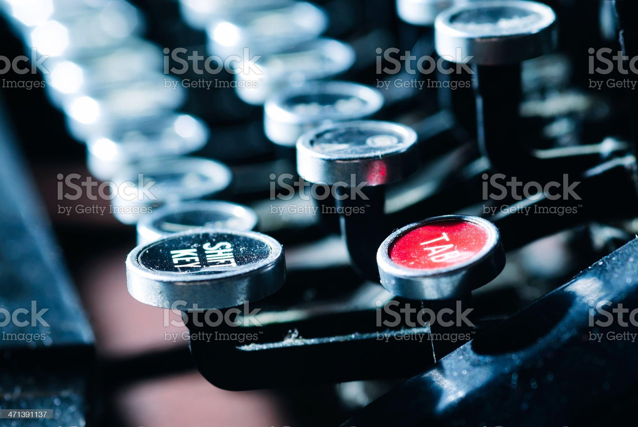 Old Manual Typewriter Keyboard royalty-free stock photo