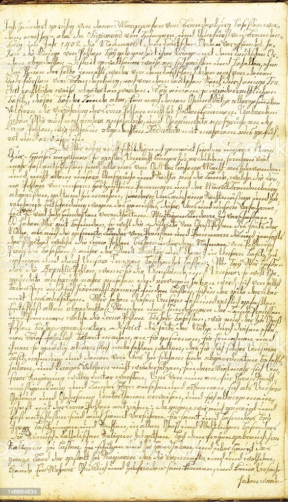 Old  manuscript full one page hi-res royalty-free stock photo