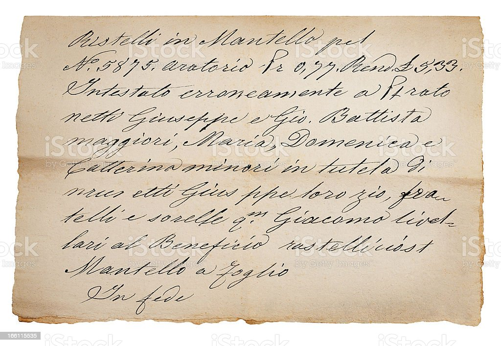 Old manuscript royalty-free stock photo