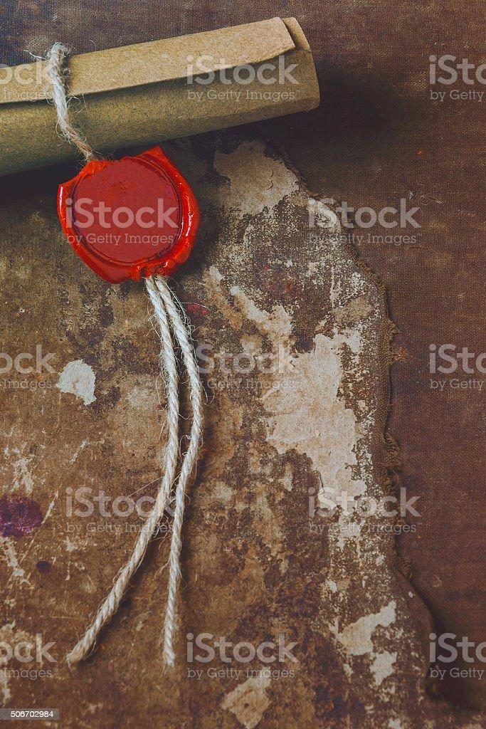 Old manuscript stock photo