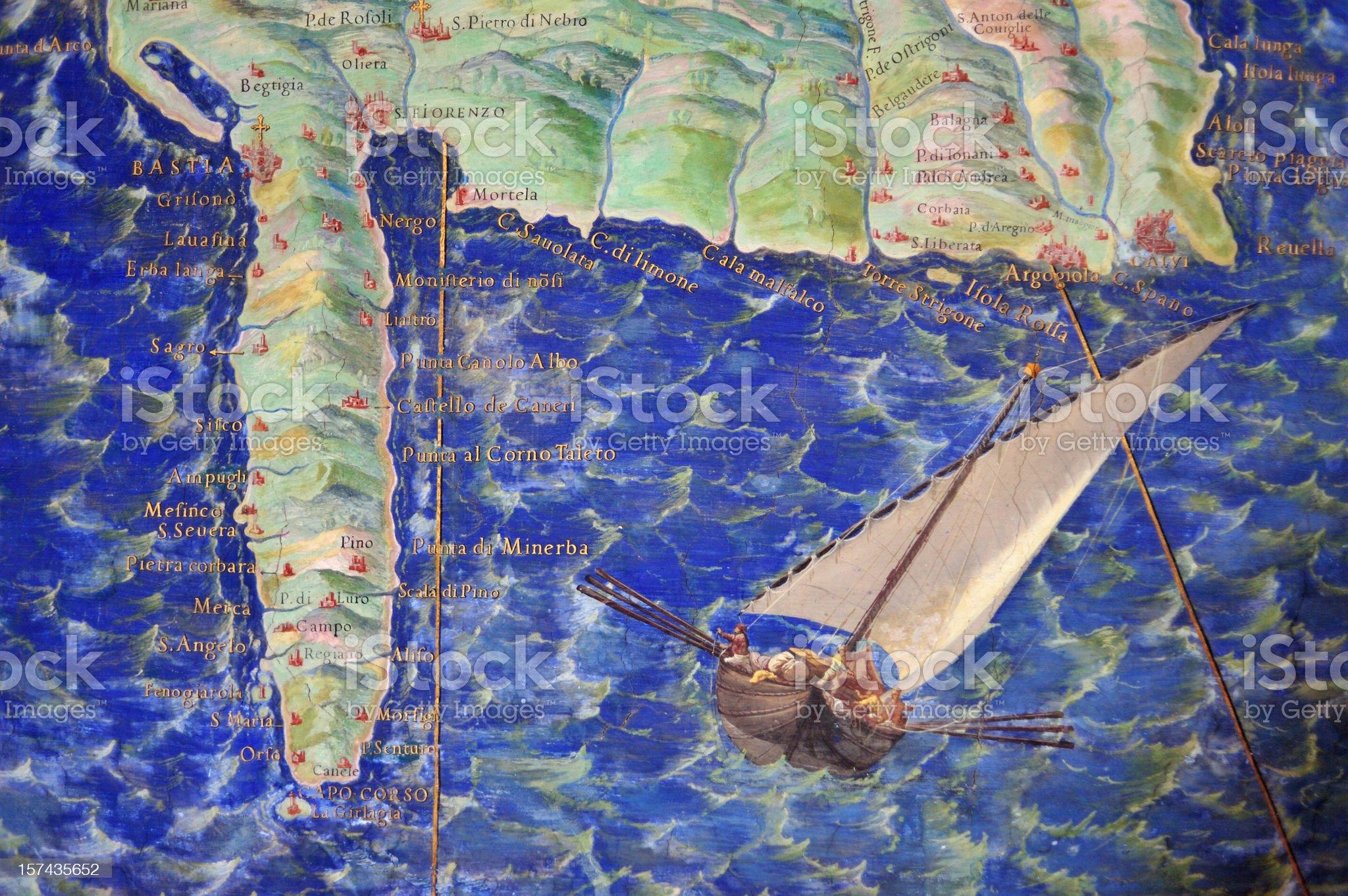 Old map illustration royalty-free stock photo