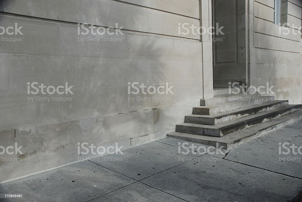 Old Marble Steps royalty-free stock photo