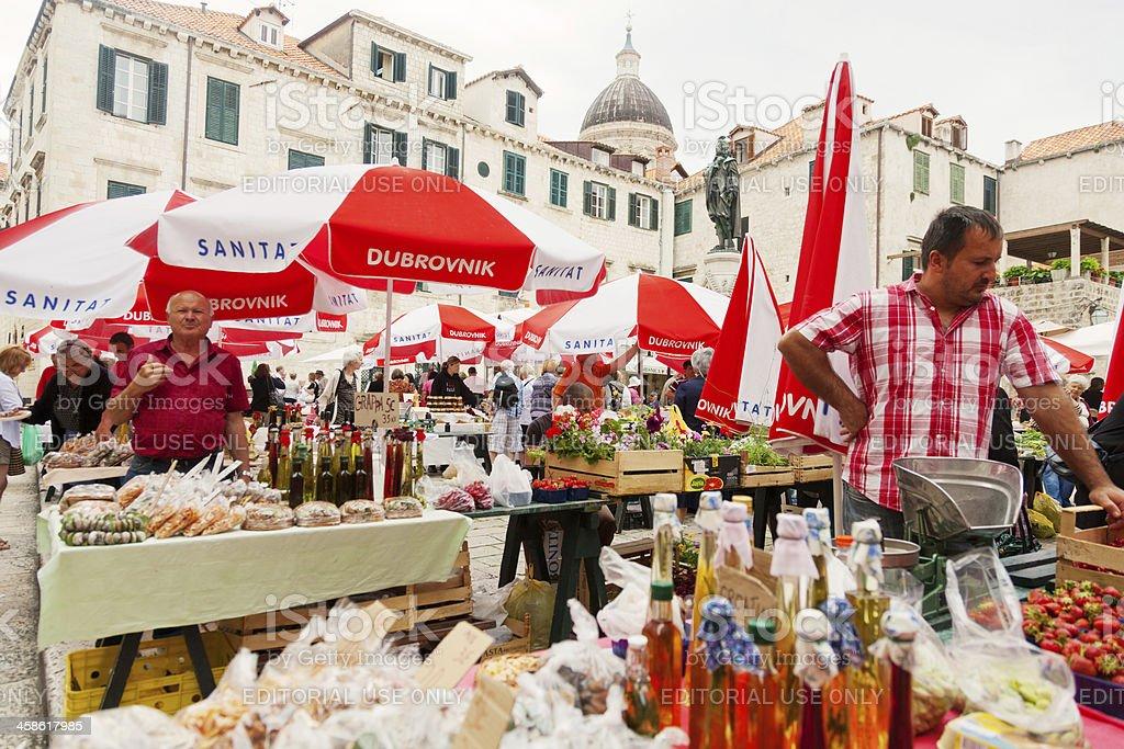 Old market, Dubrovnik royalty-free stock photo