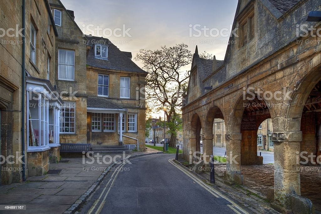Old Market Hall at Chipping Campden stock photo