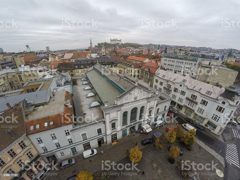 Old market in Bratislava stock photo