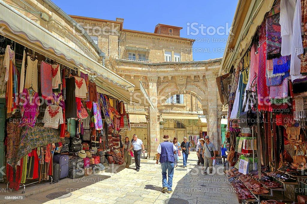 Old market in Jerusalem, Israel. royalty-free stock photo