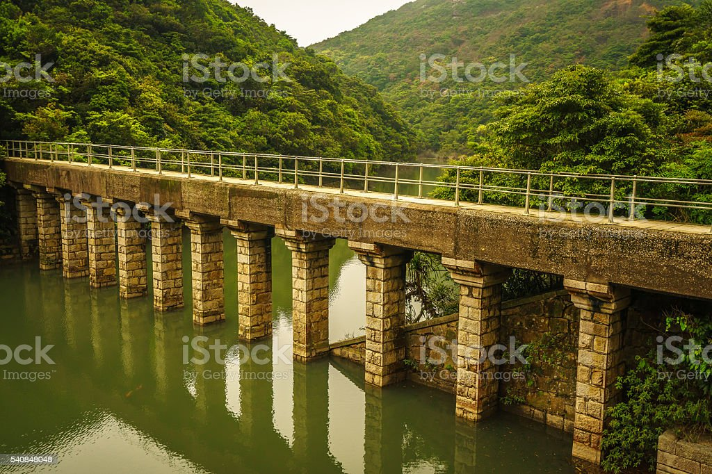 Old Masonry Bridge in Hong Kong stock photo